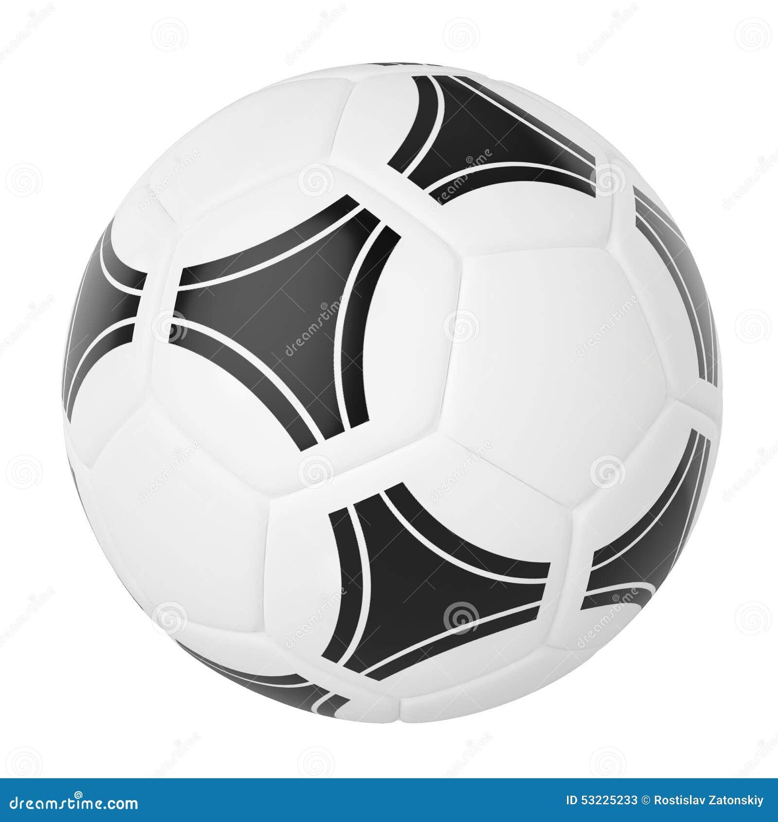 Balón de fútbol aislado en el fondo blanco