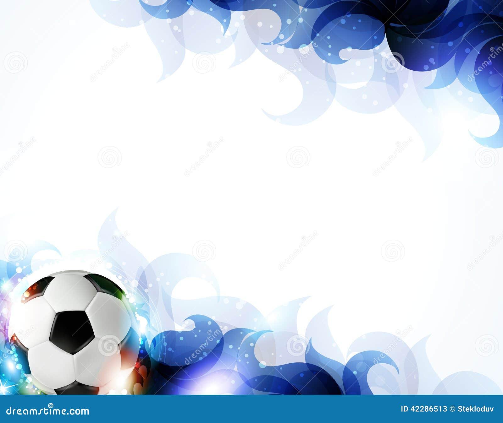 Balón de fútbol con los pétalos azules transparentes en un fondo blanco  Fondo abstracto del fútbol 5cdf4f9743584