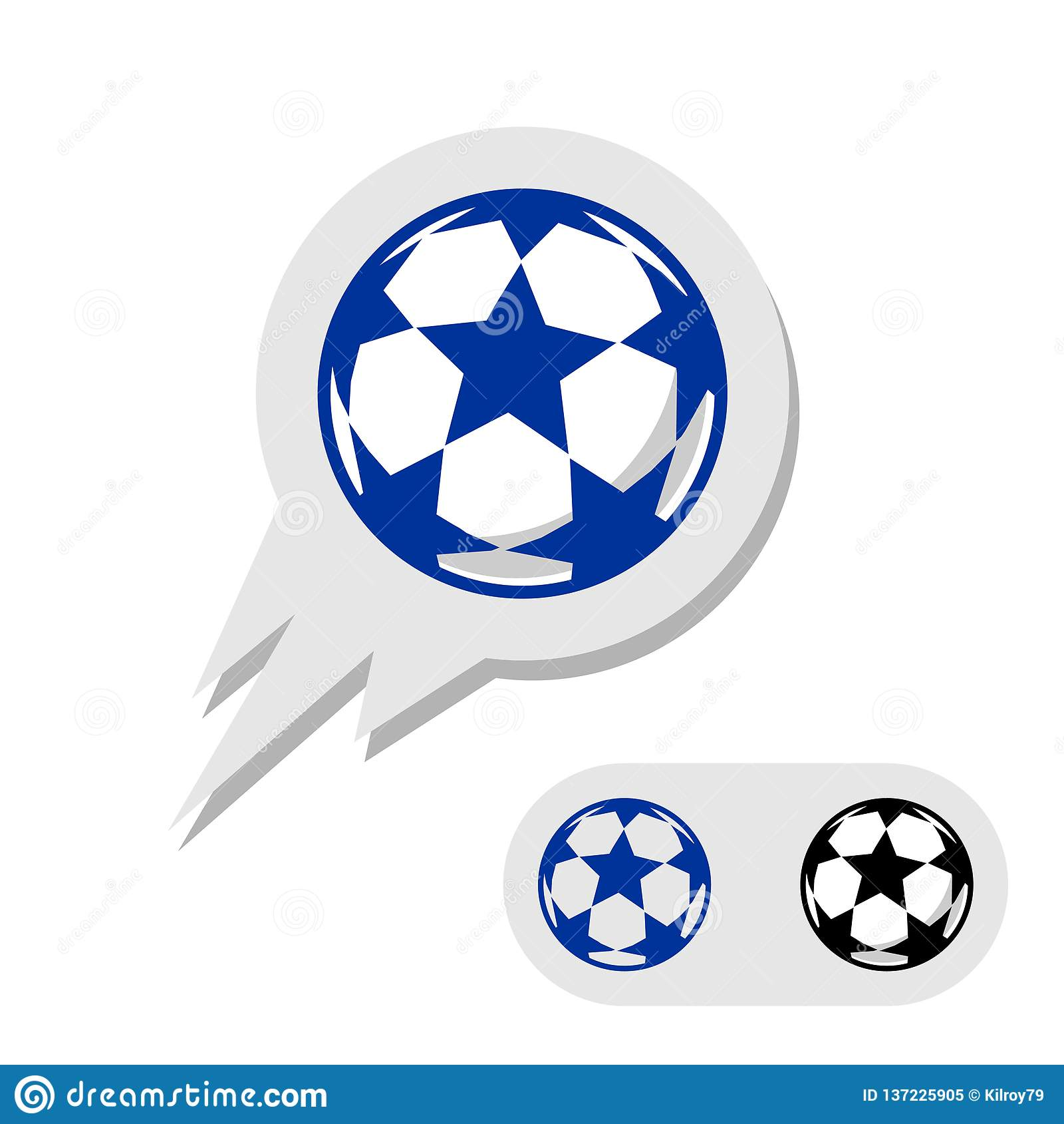 Balón de fútbol del fútbol con el logotipo de las estrellas