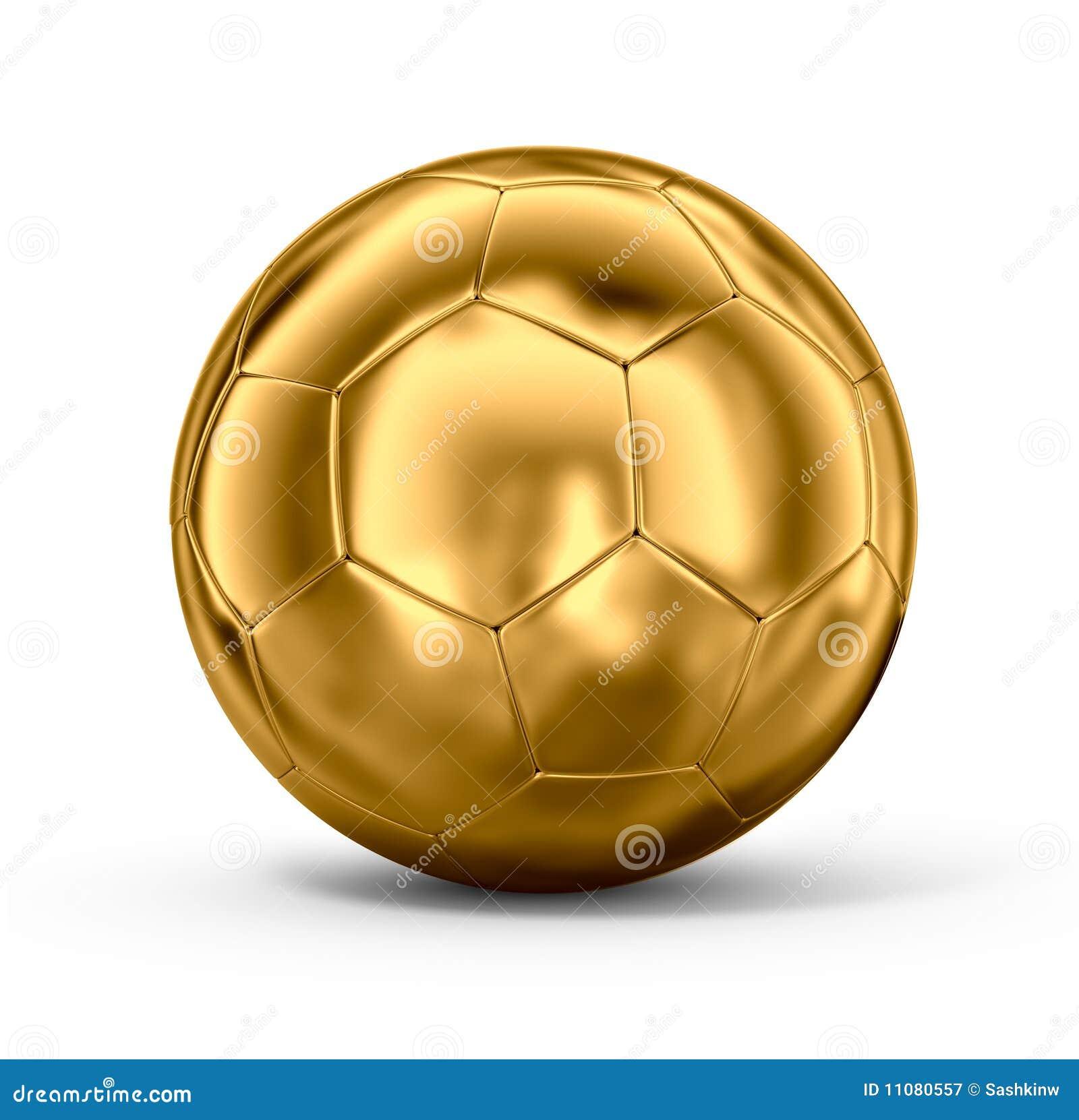 Balón de fútbol del oro