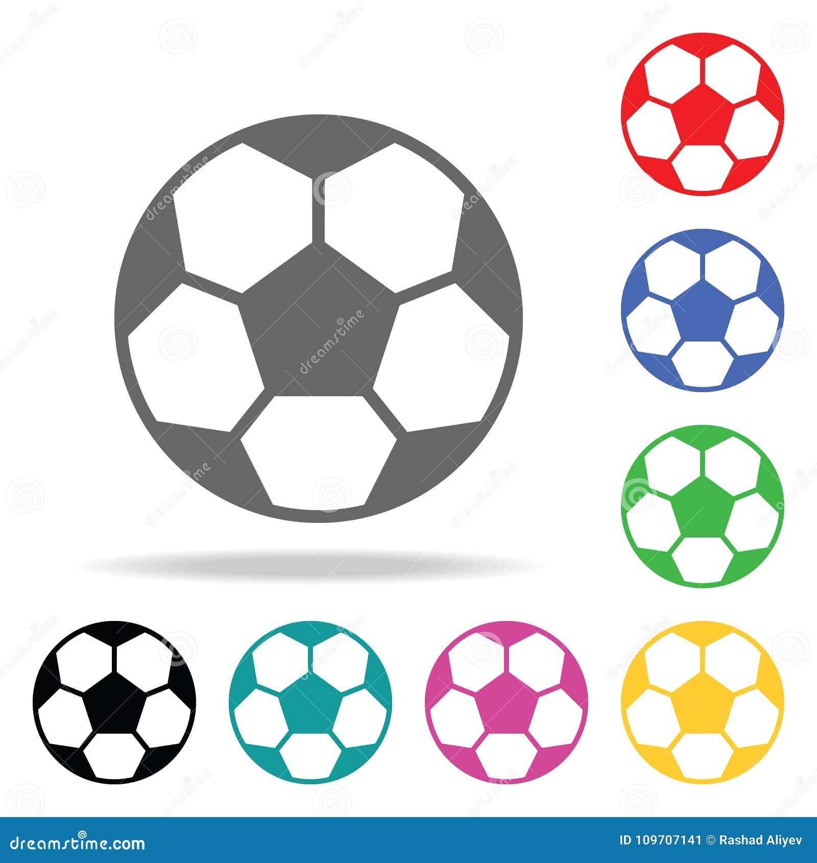 Balón De Fútbol Elemento Del Icono Coloreado Multi Del Deporte Para ...