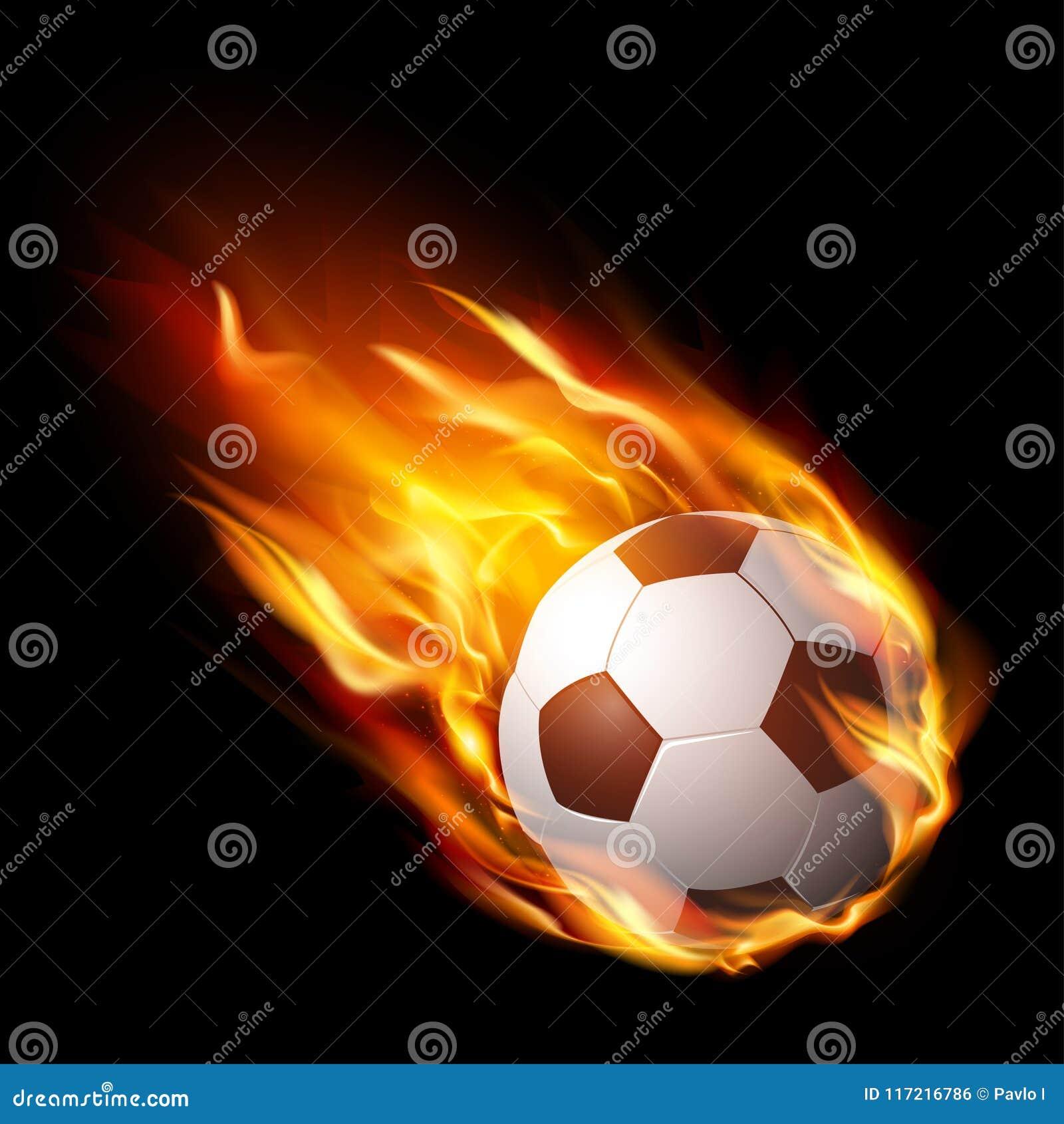 Balón De Fútbol En El Fuego 3dfe4cc75039e