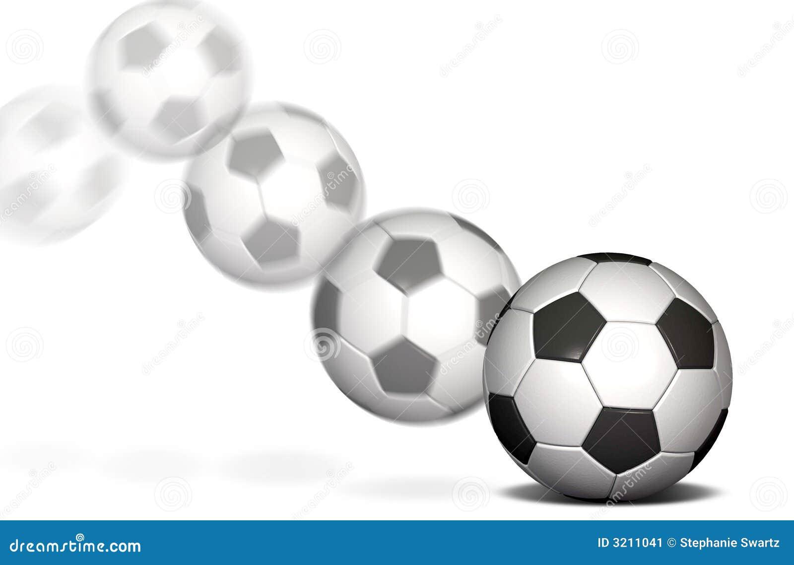 0e9902a9b9244 Balón de fútbol en un fondo blanco con una falta de definición de movimiento