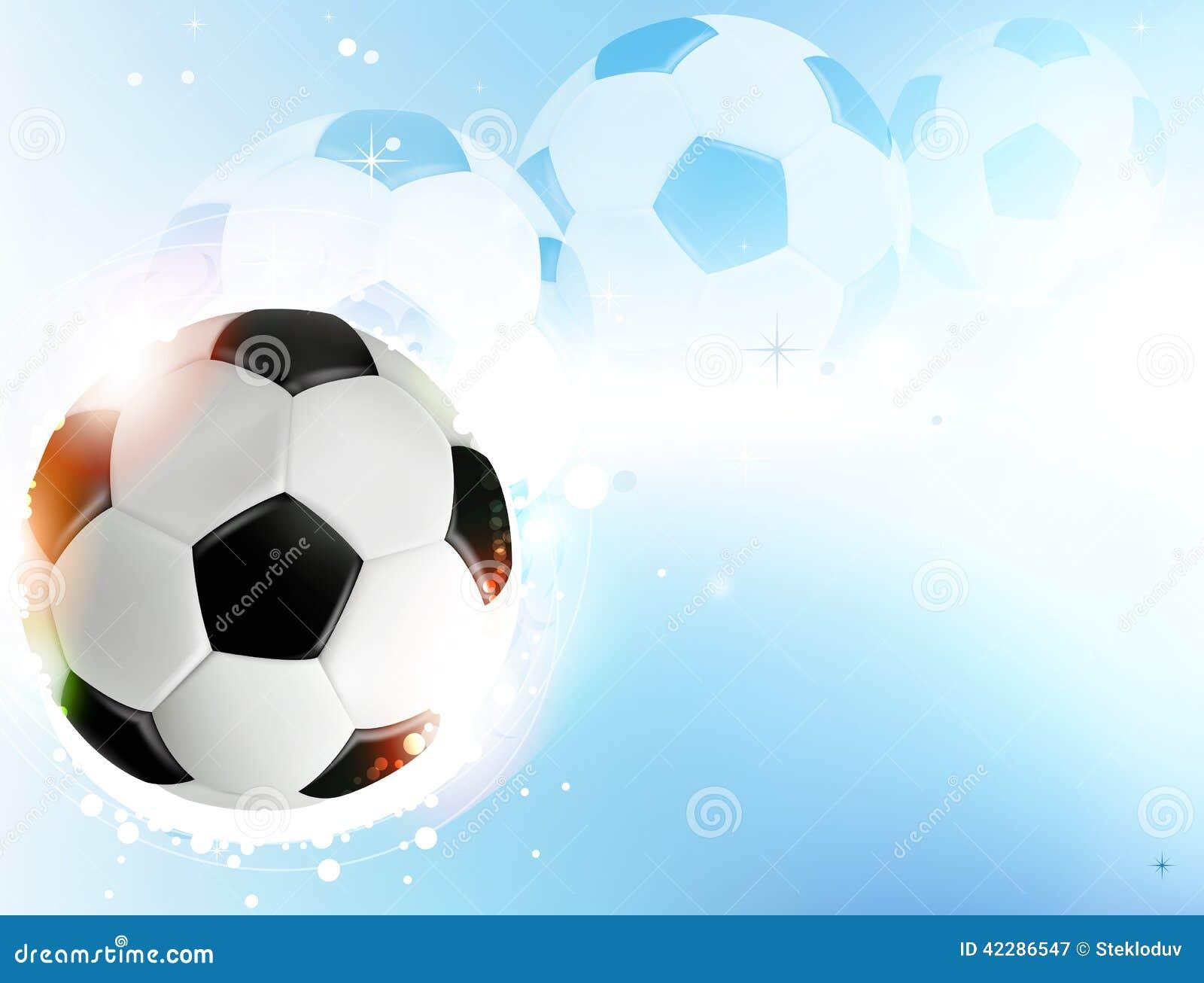Bal n de f tbol en fondo azul ilustraci n del vector for Fondos de futbol