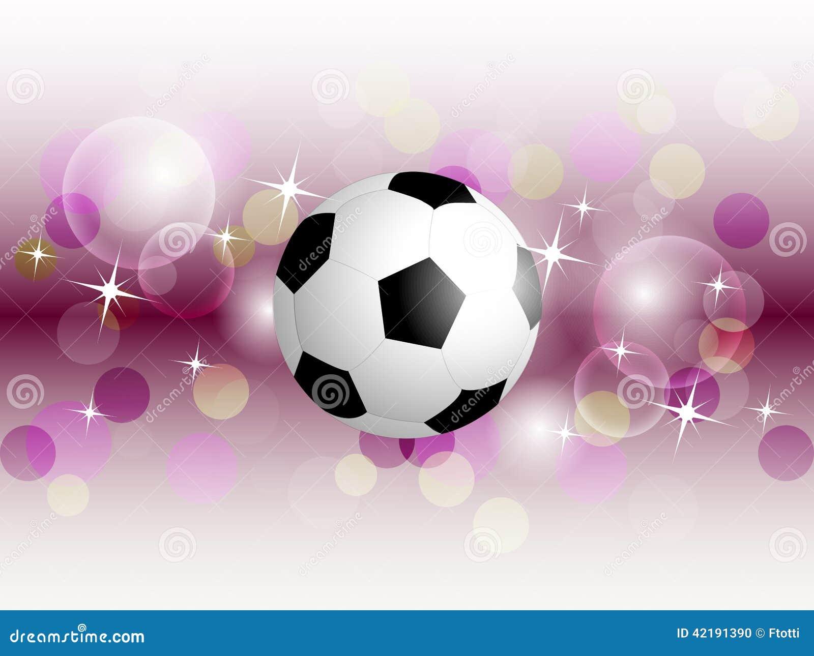 Balón De Fútbol En Fondo Ondulado Ilustración del Vector ... 13141d089660f
