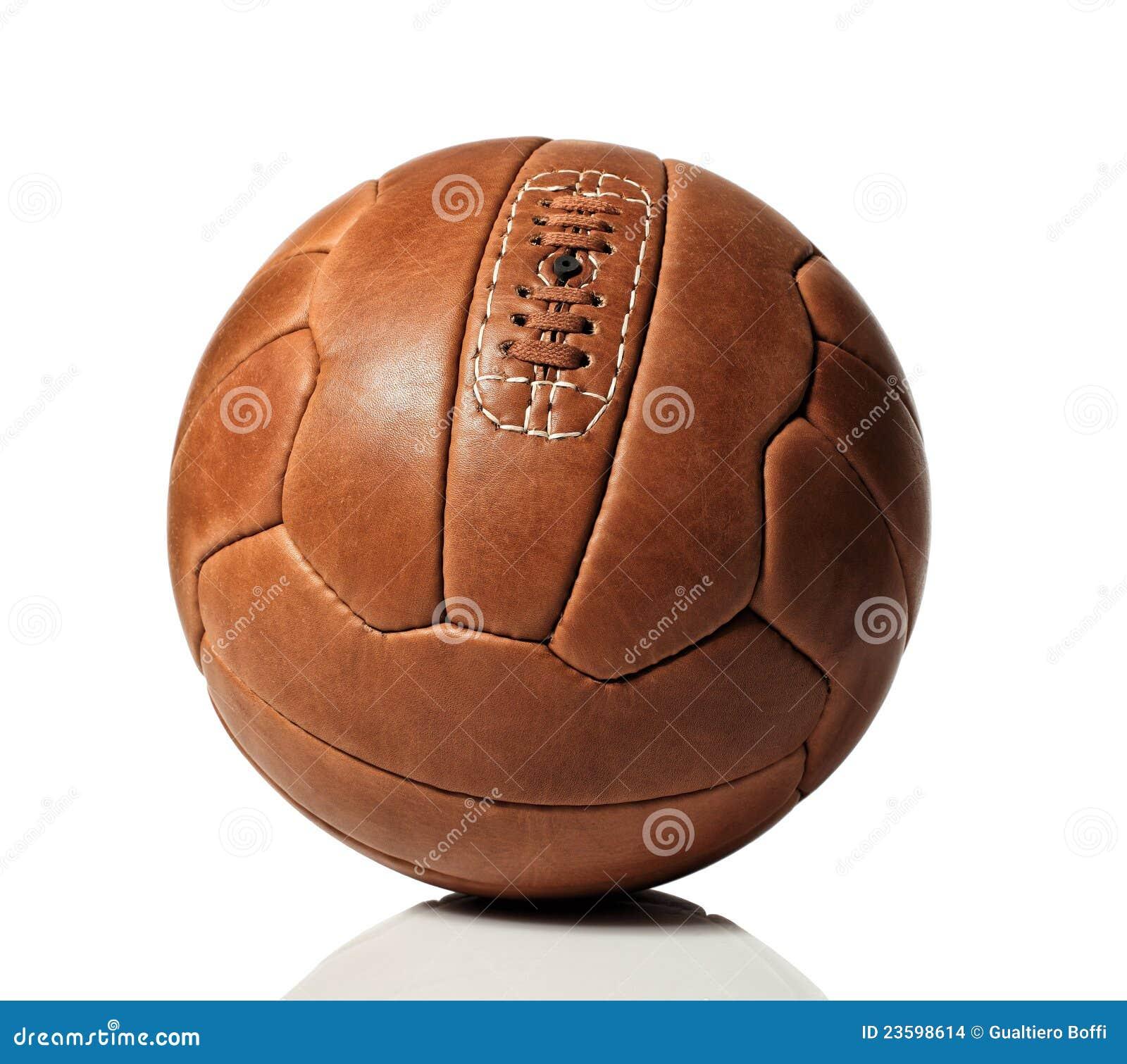 Balón de fútbol retro