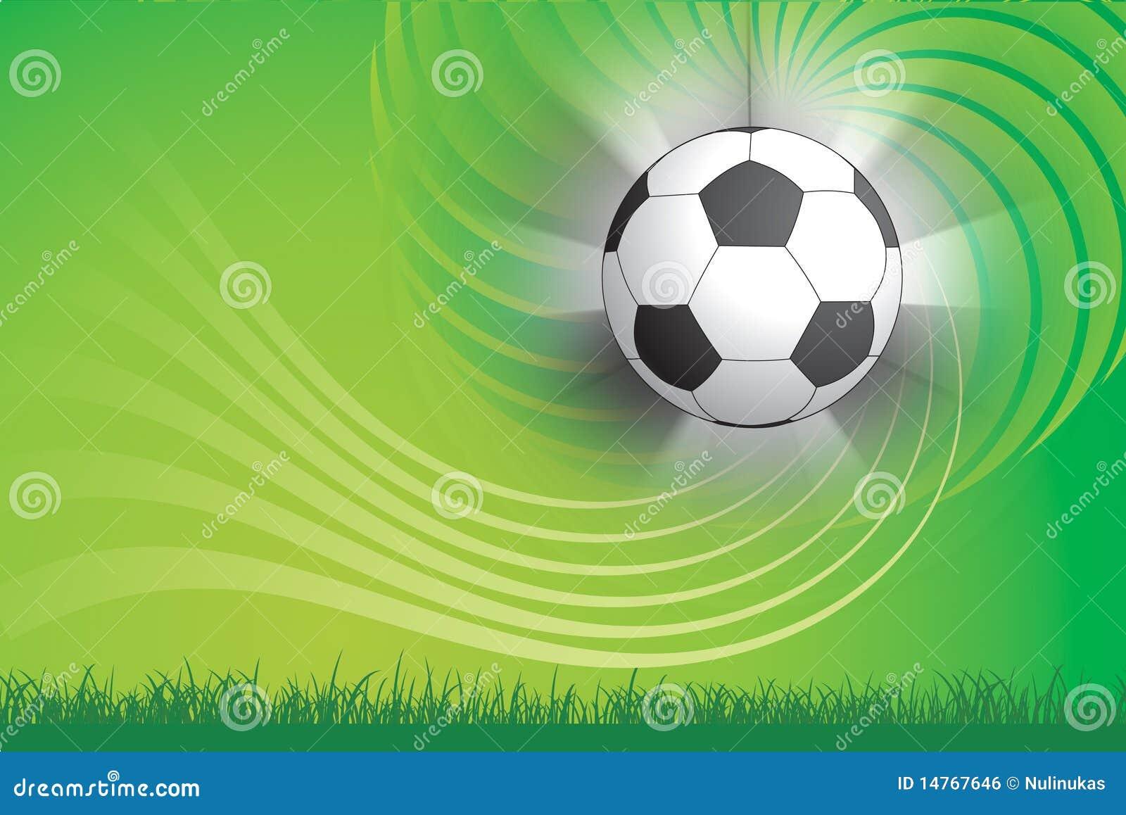 Fondos De Pantalla Fútbol Pelota Silueta Deporte: Balón De Fútbol Y Fondo Verde Imagen De Archivo Libre De