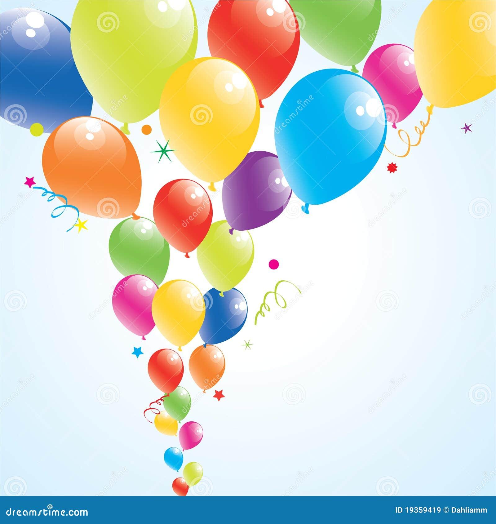 Balões coloridos no céu