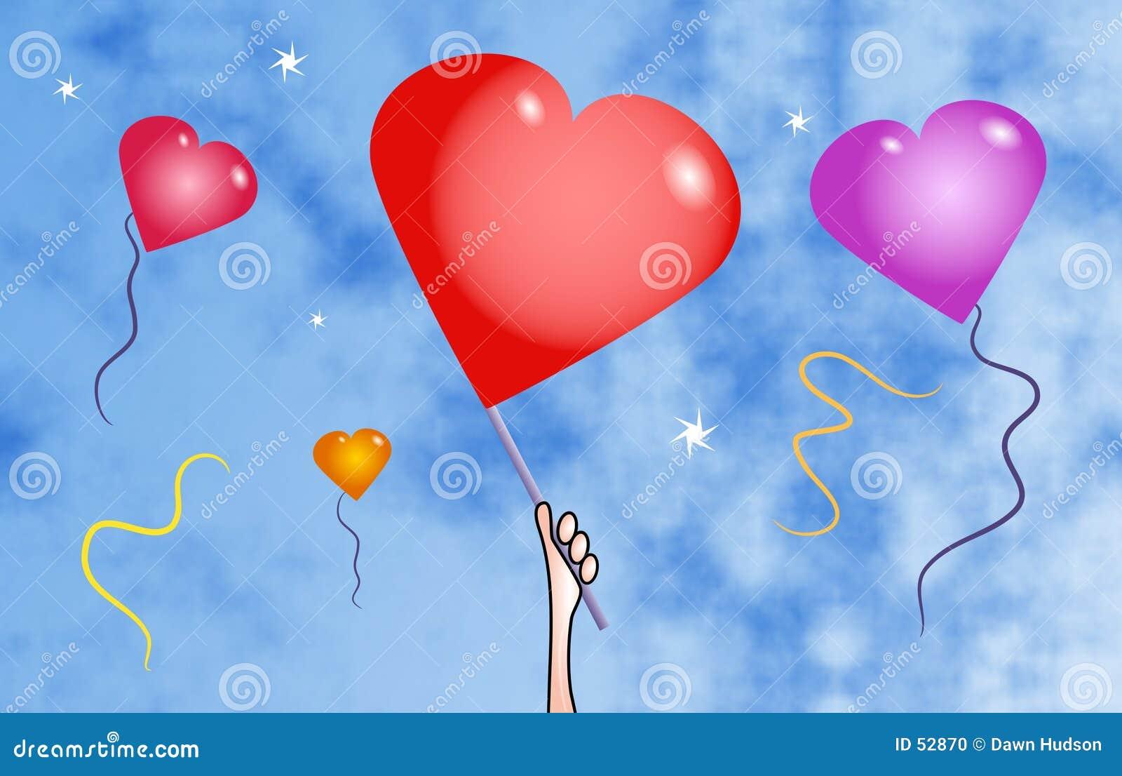 Balões do coração