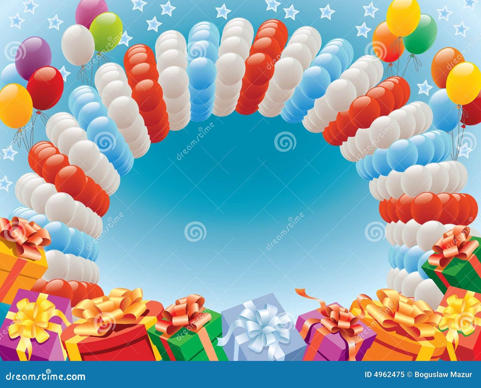 Balões e presentes
