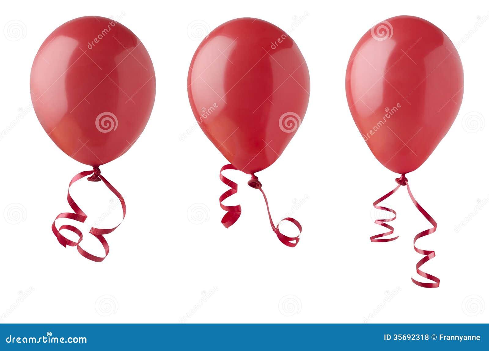 Balões vermelhos com fitas