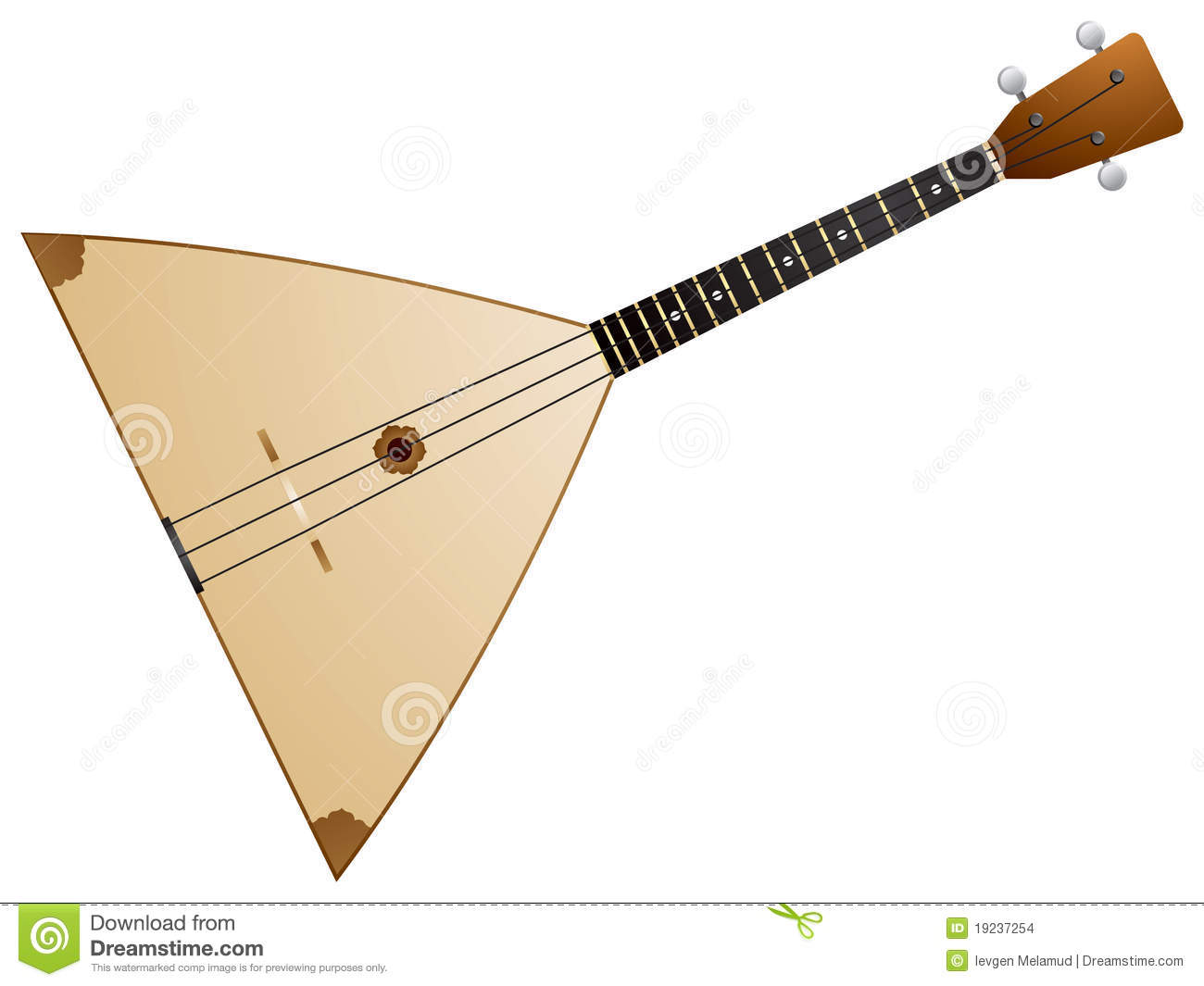 Balalaika is a Russian traditional stringed musical instrument, with a ...