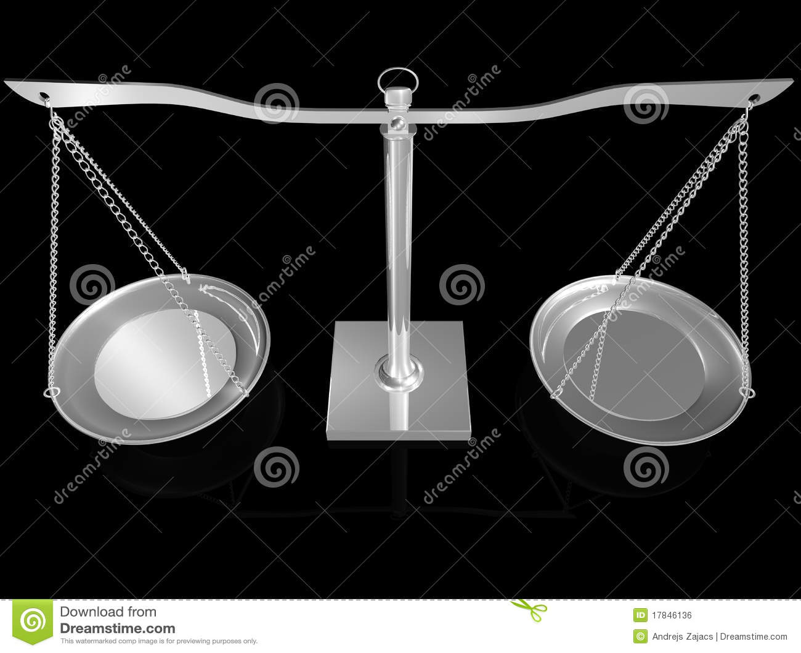 Balanço 3D de prata