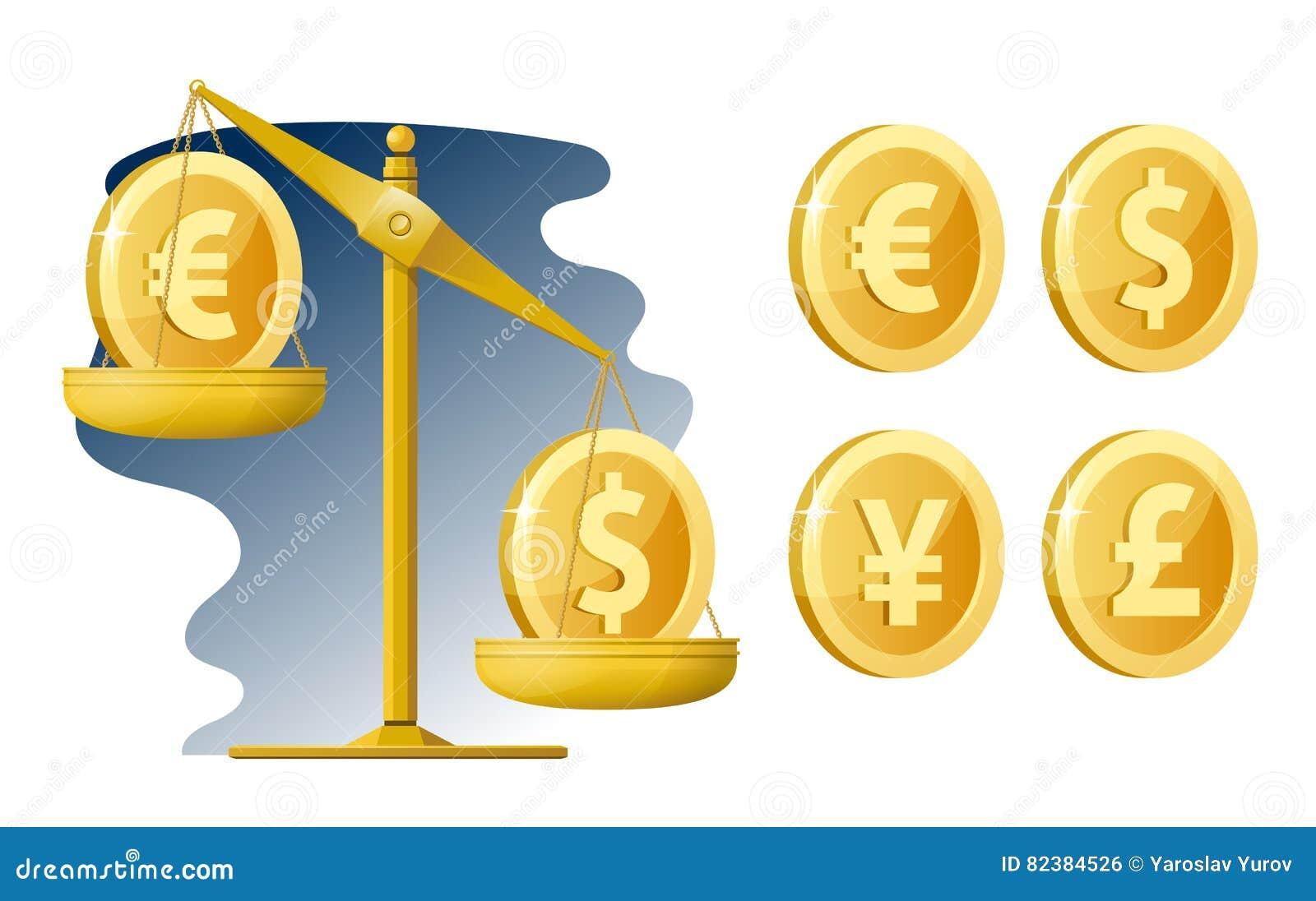 Balance Cours Des Devises Dollar Euro Yen Livre Sterling