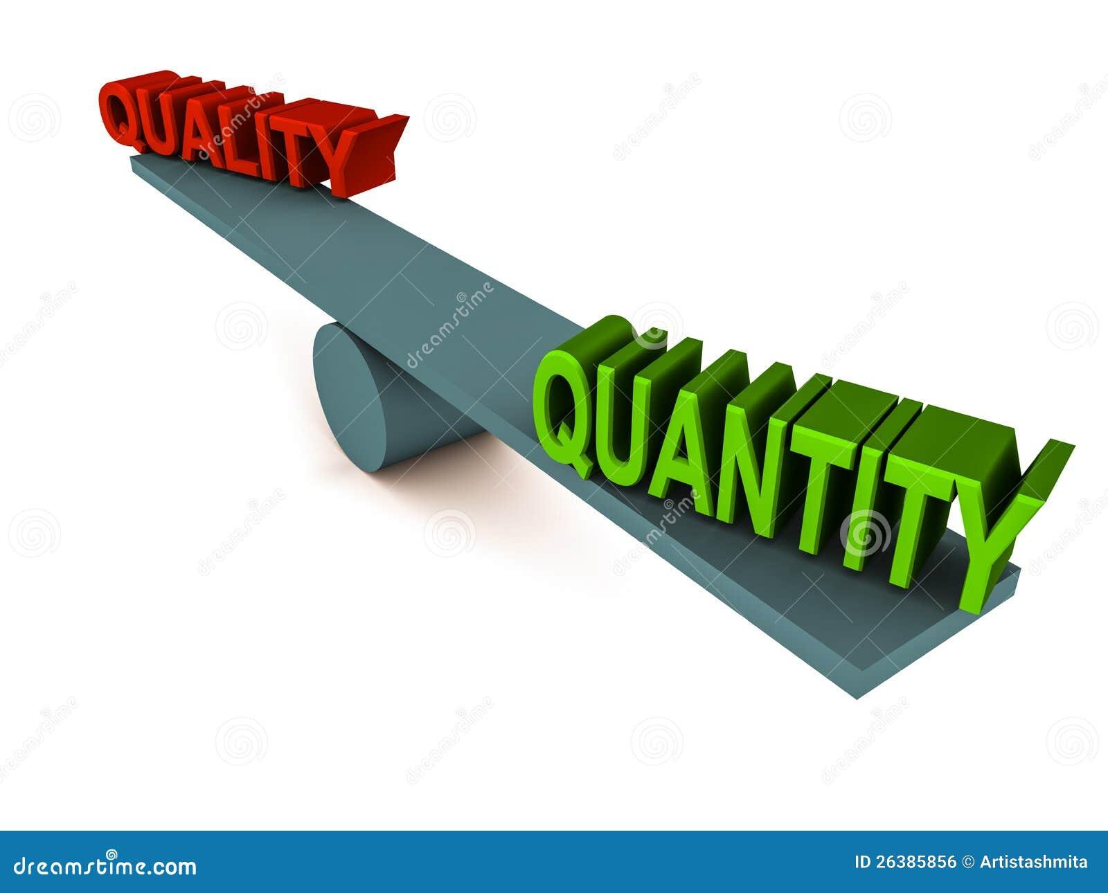 Balance de la cantidad de la calidad