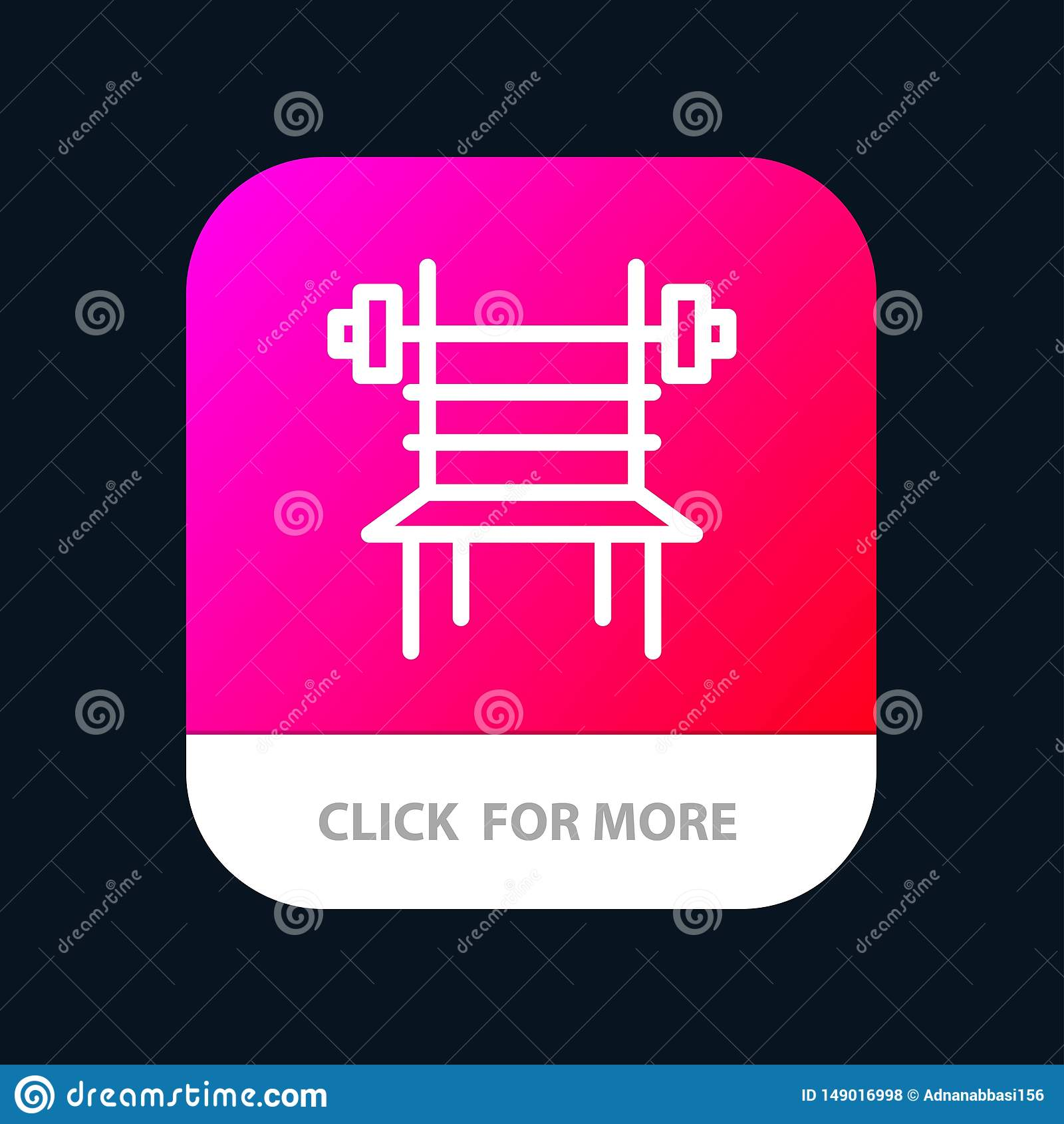 Balance, Dumbbell, Fitness, Gym, Machine Mobile App Button