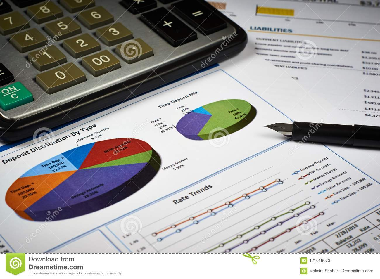 balance sheet and diagram stock image image of accounting 121019073