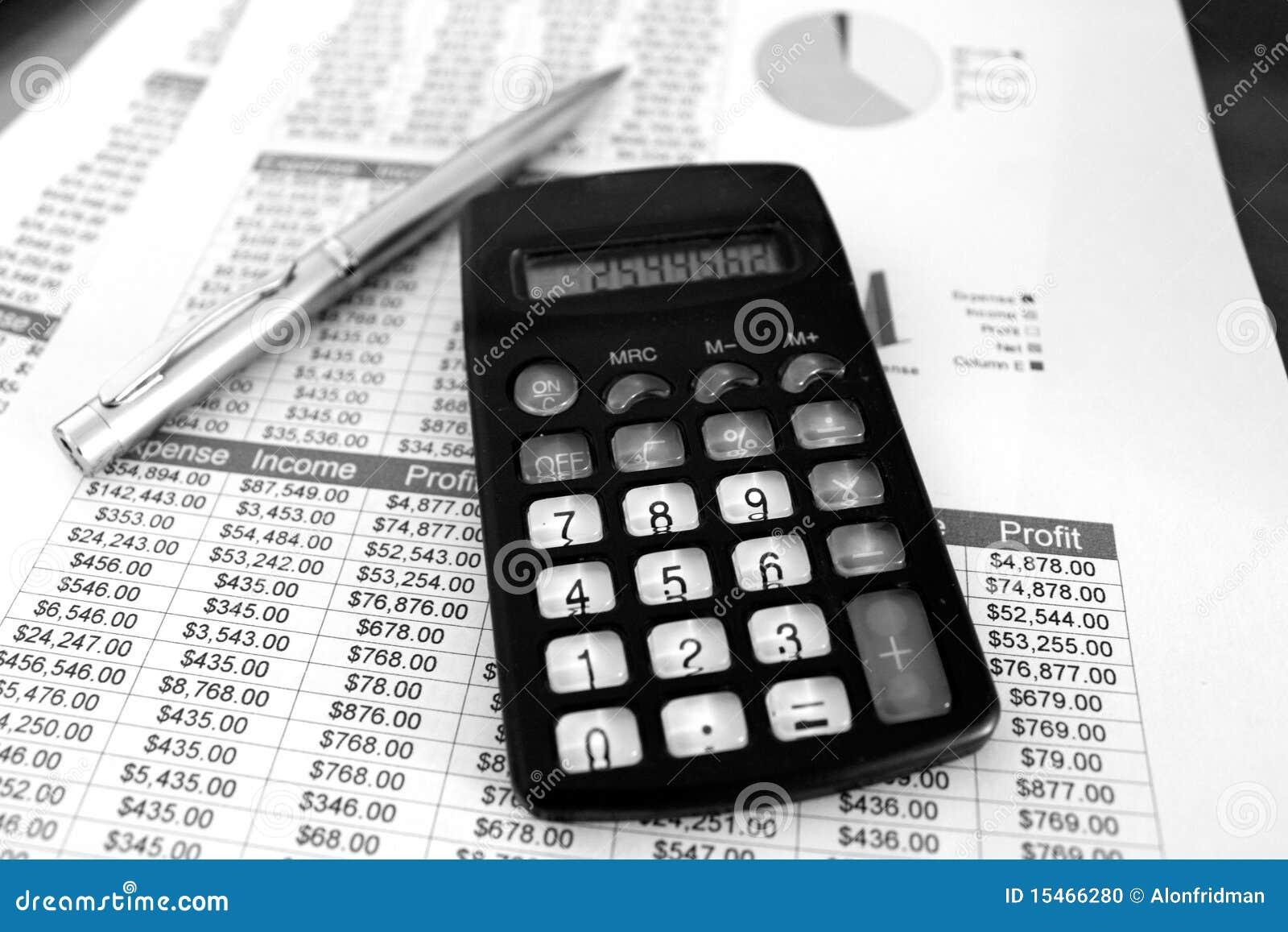 balance sheets black and white stock photo