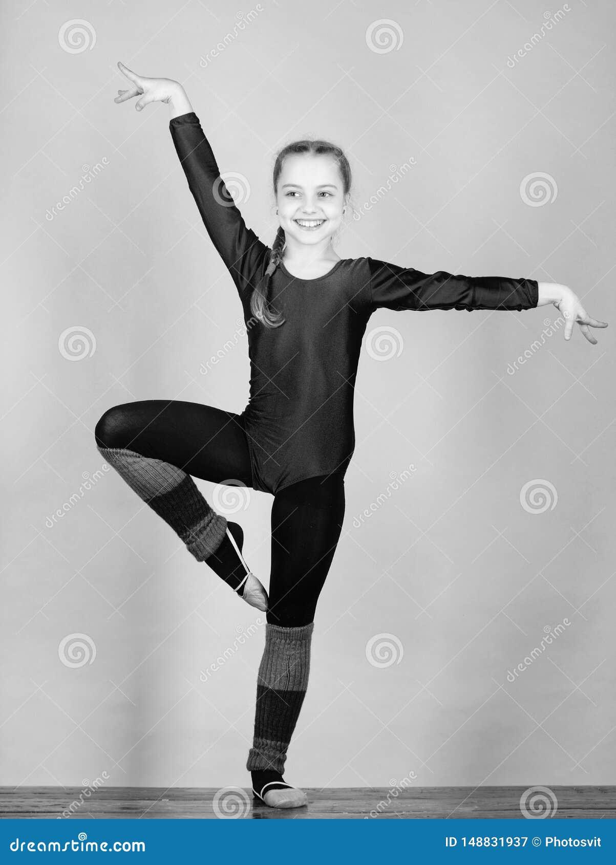 Balance sua vida Ilustra??o do bailado dancer gymnastics Desportista feliz da crian?a Esporte e sa?de Exerc?cio do gym da acrobac