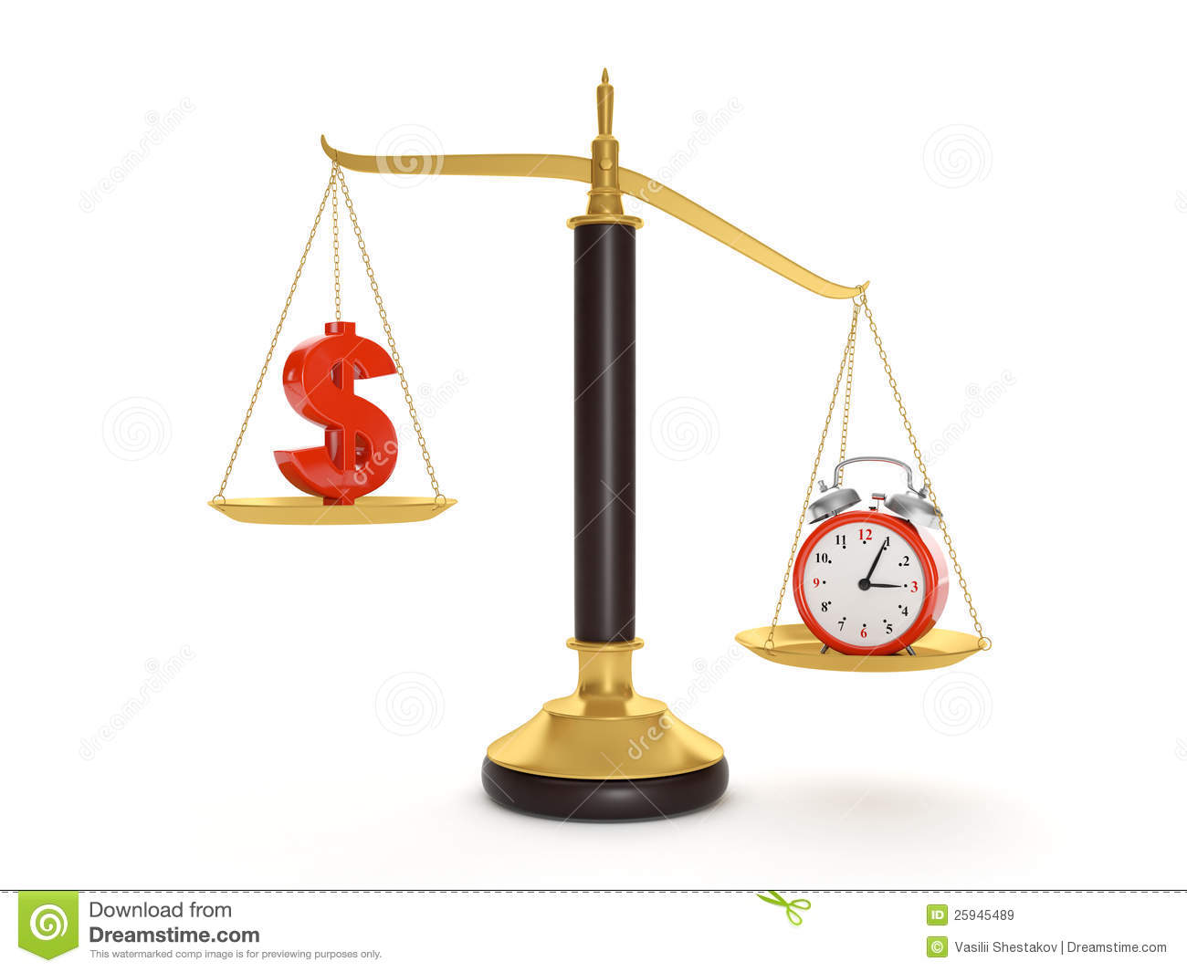 Value And Balance In Art : Balance time and money royalty free stock images image