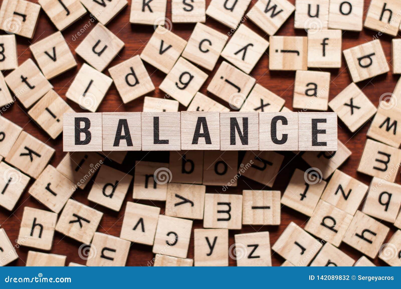 BALANCE word concept