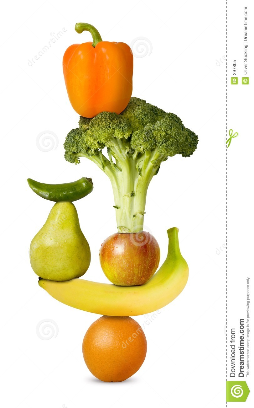 Balanced Diet 2 Stock Image. Image Of Health, Orange, Diet