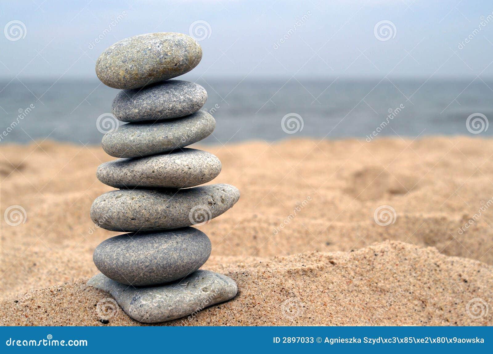 balanced stones on beach stock image image of stack harmony 2897033. Black Bedroom Furniture Sets. Home Design Ideas