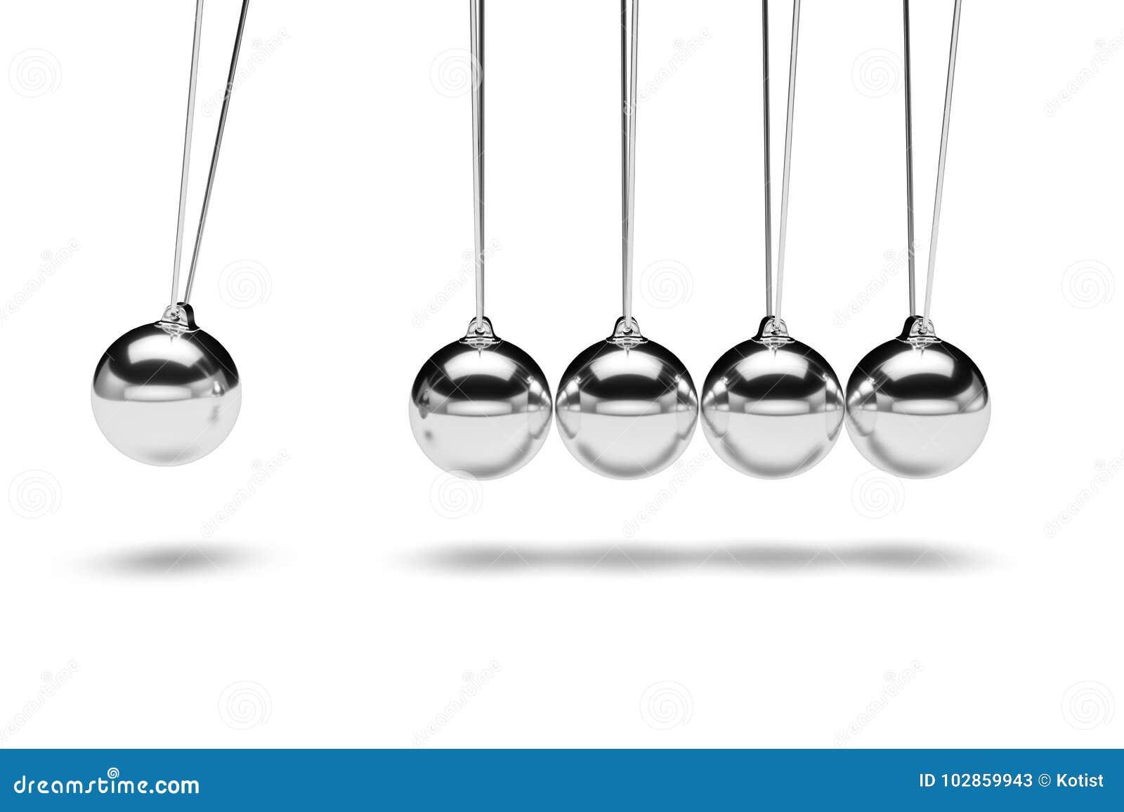 Balancing balls newton`s cradle