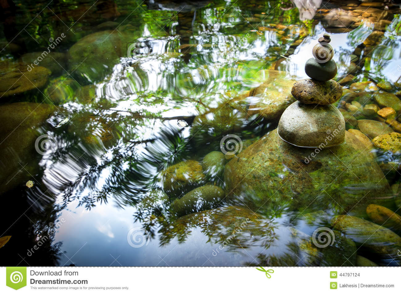 balancing rocks tower for zen meditation practice nature background stock photo image 44797124. Black Bedroom Furniture Sets. Home Design Ideas