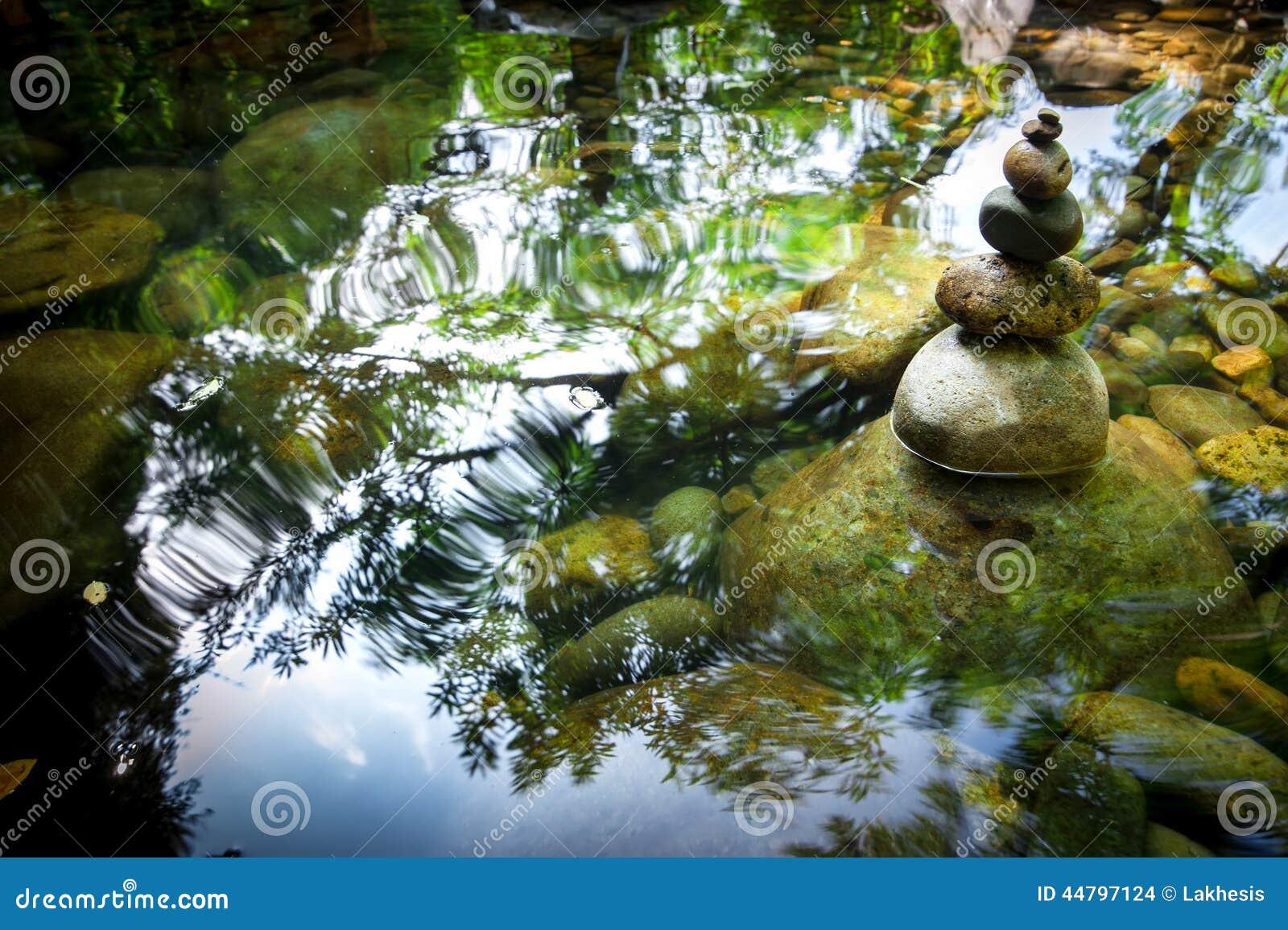 Balancing rocks tower for zen meditation practice nature background stock photo image 44797124 - Image zen nature ...