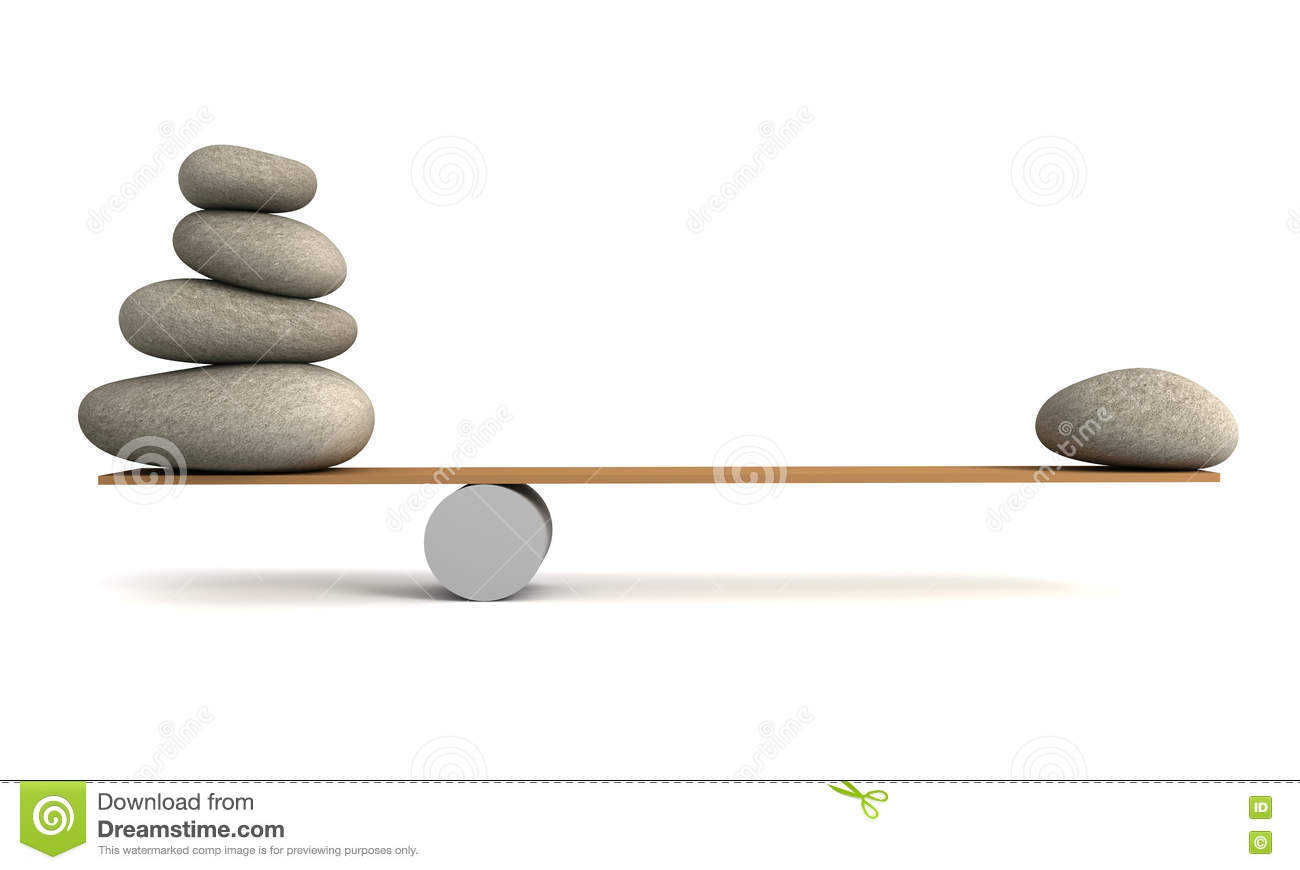 Balancing stones 3d illustration