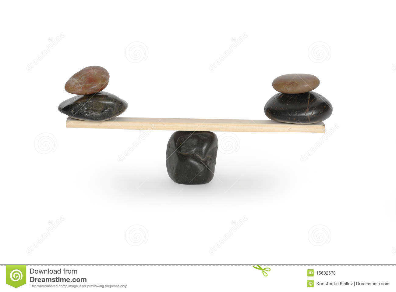 Balancing stones on seesaw royalty free stock photos for Seesaw plans designs