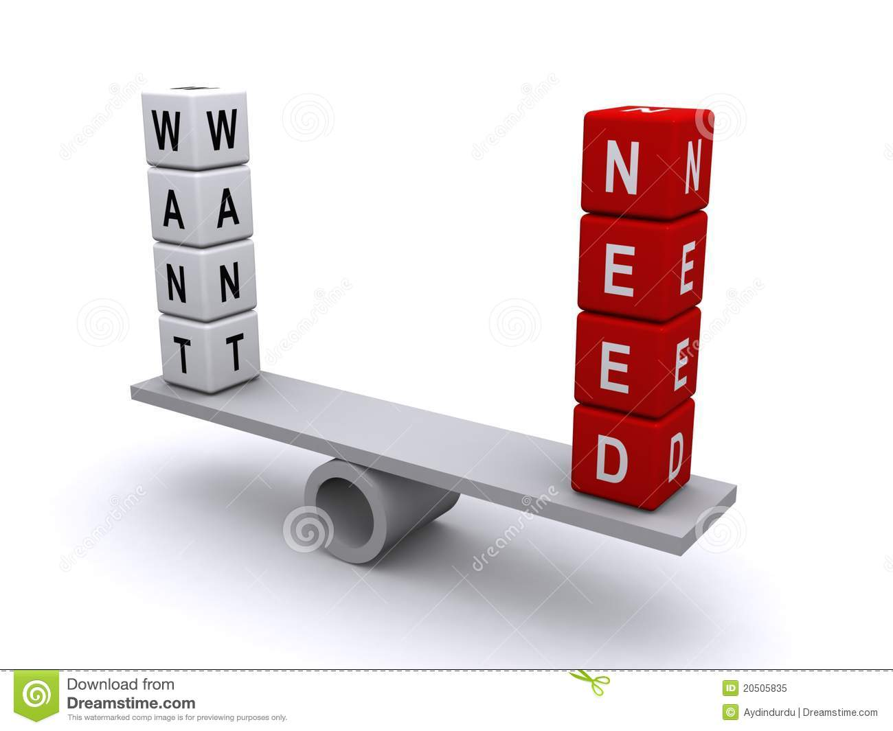 Balancing Want And Need Stock Illustration