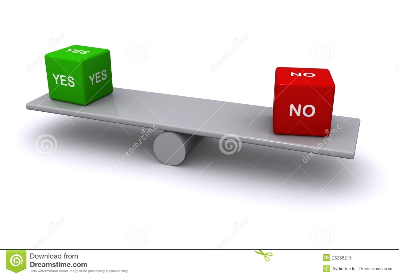 Balancing yes and no