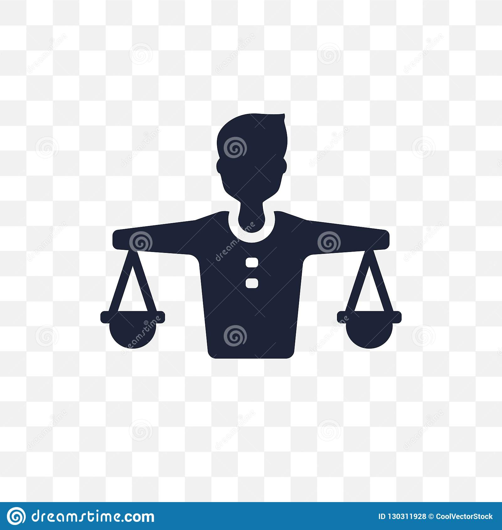 Balanza en icono transparente de los recursos humanos Balanza en re humano