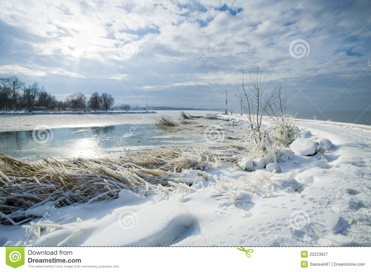 Balaton In Winter Royalty Free Stock Photography - Image: 22223627