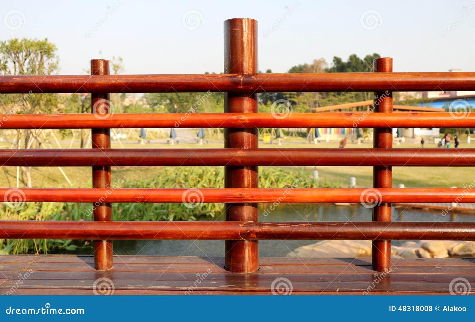 Balaustrada de madeira
