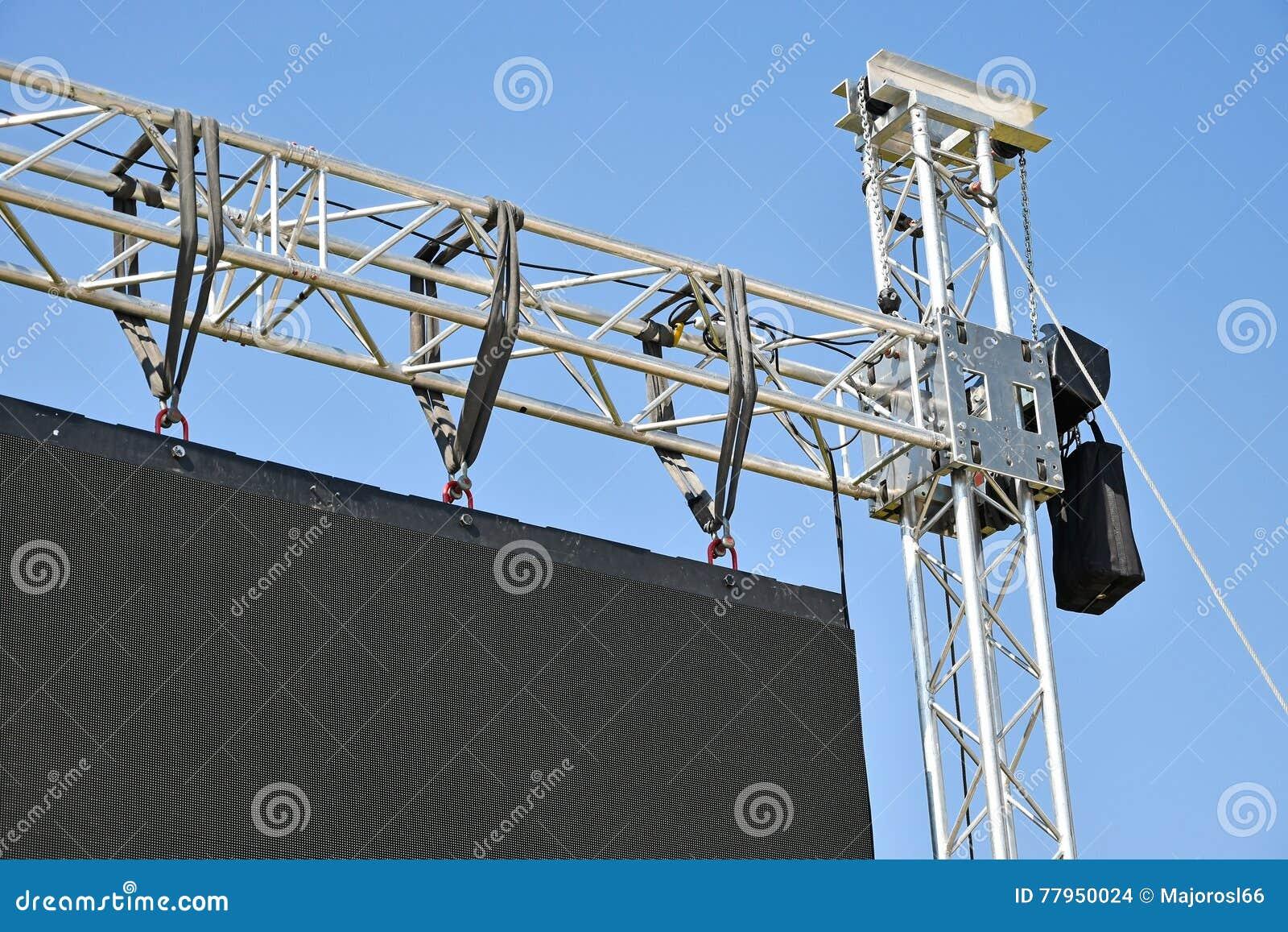 Balaustre de una pantalla grande del LED