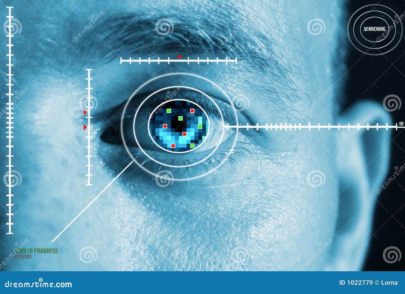 Balayage d oeil d iris