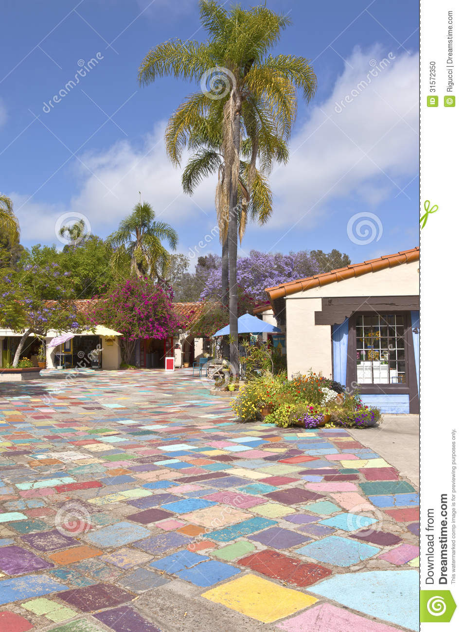 Balboa Park Spanish Village San Diego California Stock