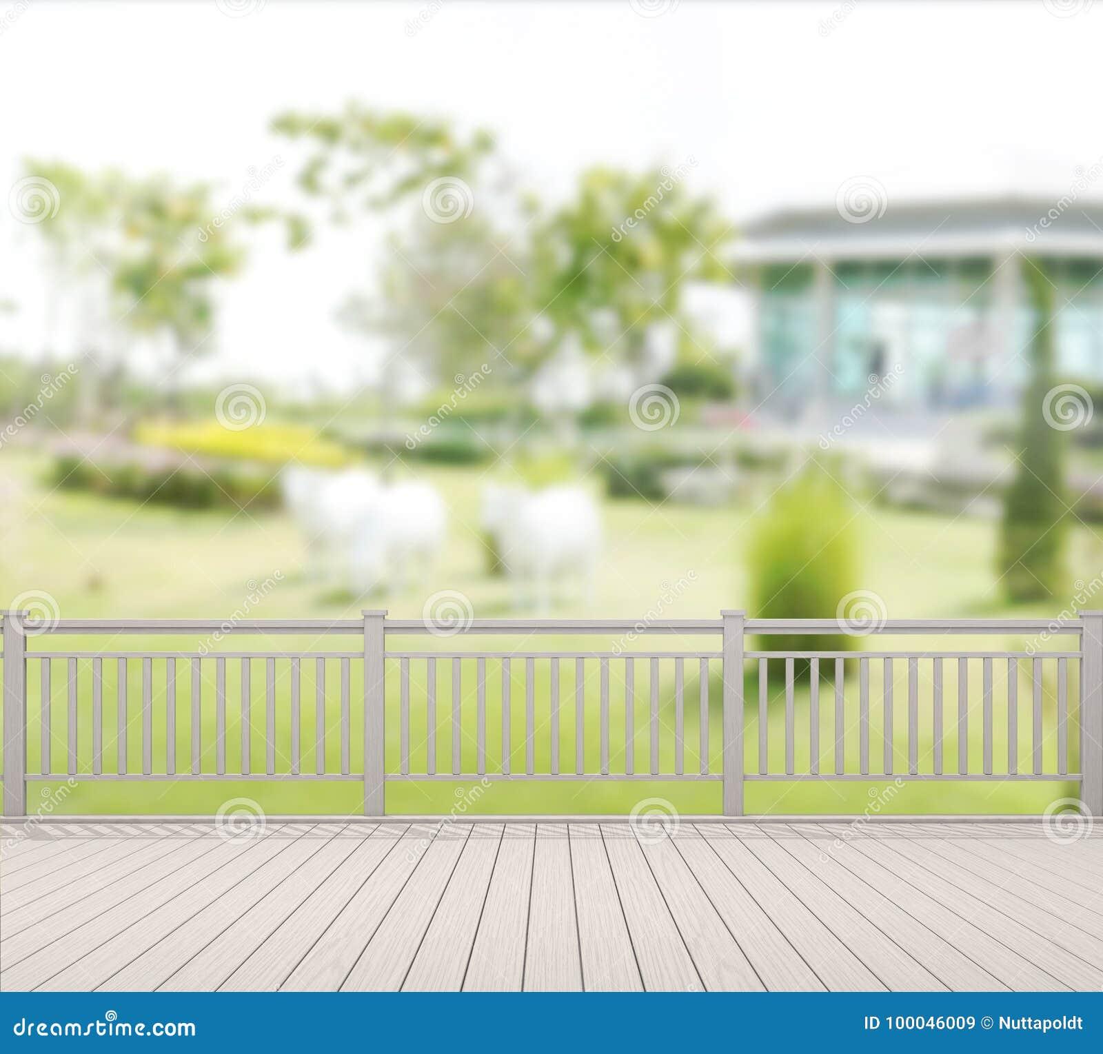 Balcón Y Terraza Del Fondo Del Exterior De La Falta De