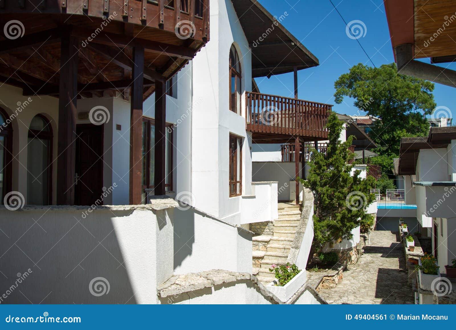 Download Balchik stockbild. Bild von bulgarien, tourist, fenster - 49404561
