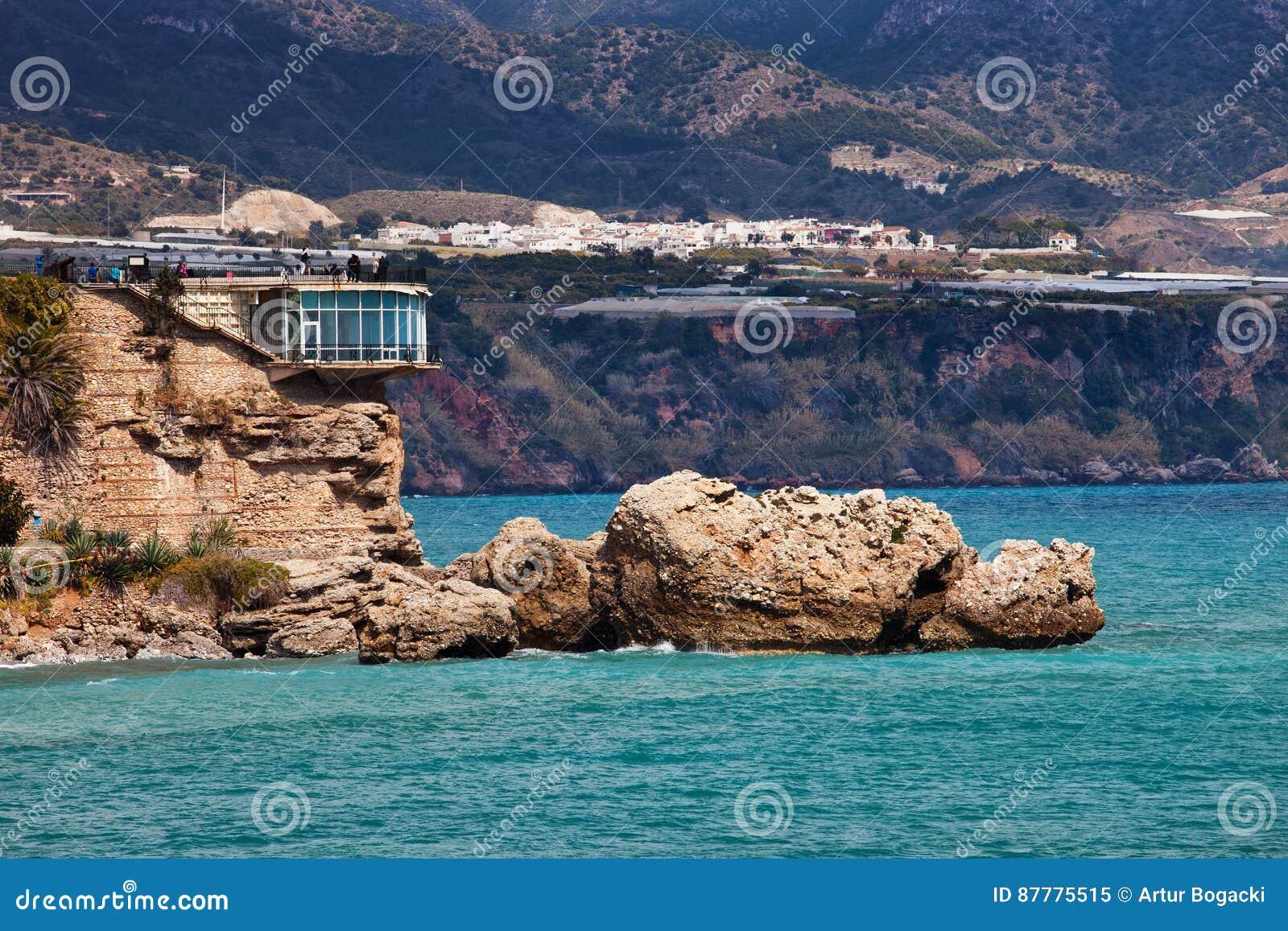 Balcon de Europa i Nerja på Costa del Sol