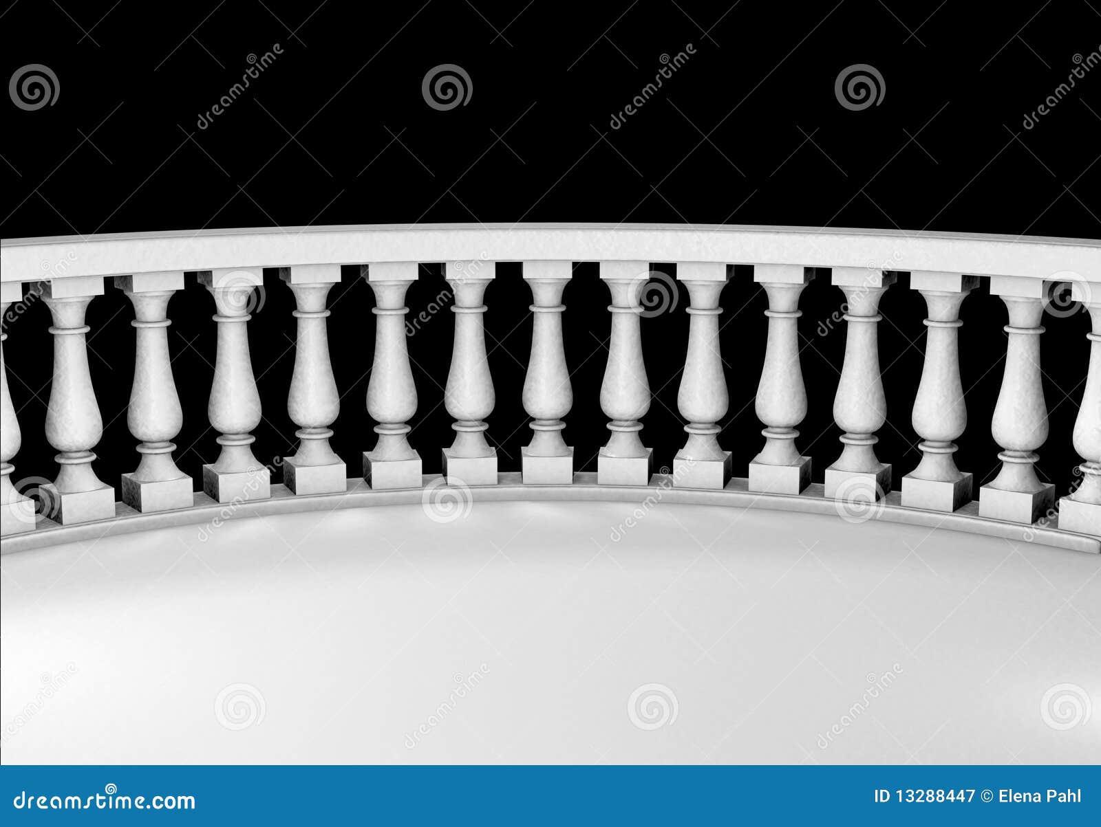 balcon de marbre blanc photographie stock libre de droits image 13288447. Black Bedroom Furniture Sets. Home Design Ideas