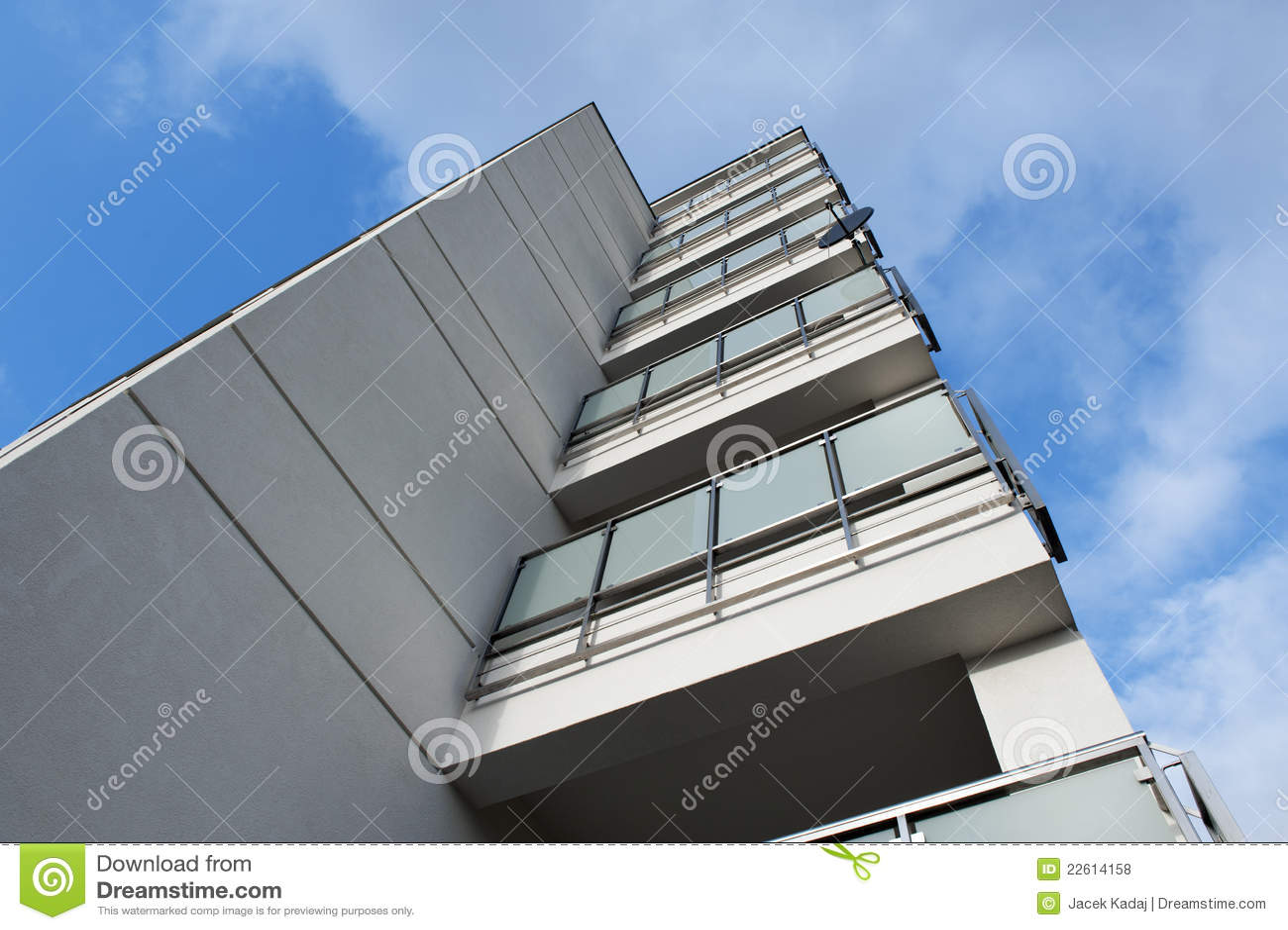 balcon moderne photos libres de droits image 22614158. Black Bedroom Furniture Sets. Home Design Ideas