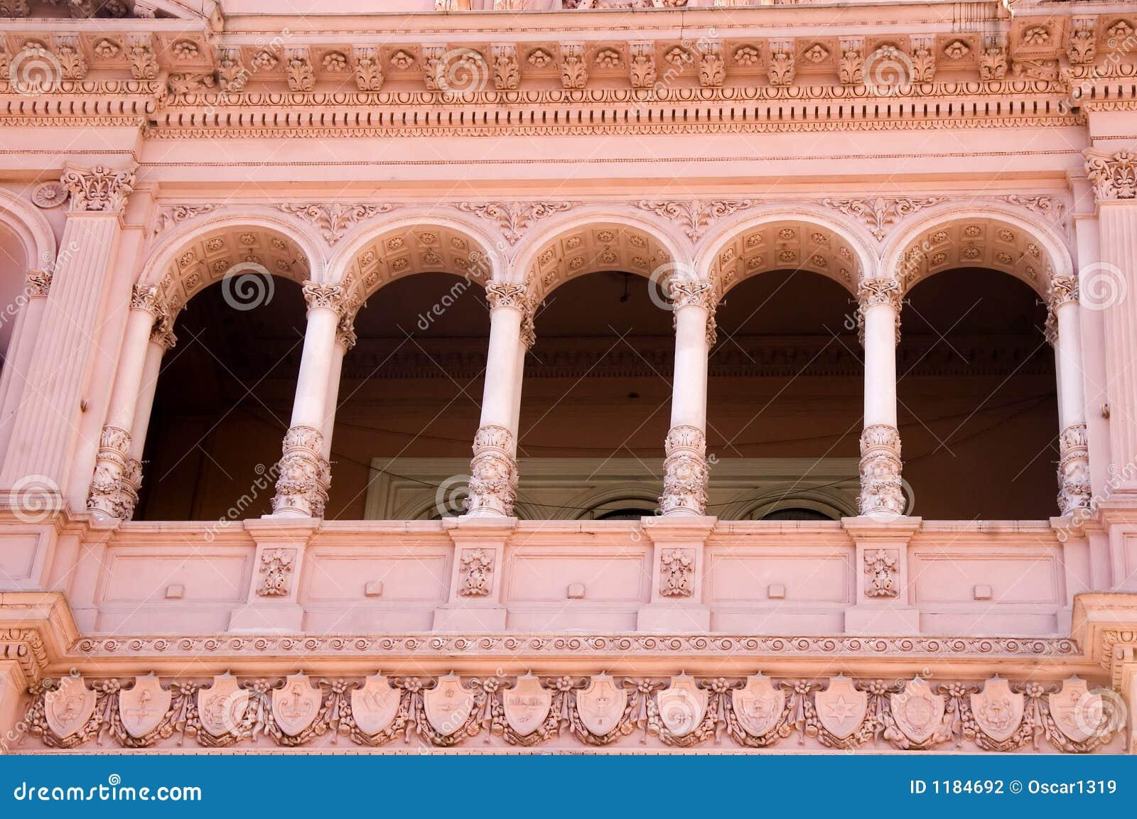 Balcone famoso di Evita, Buenos Aires