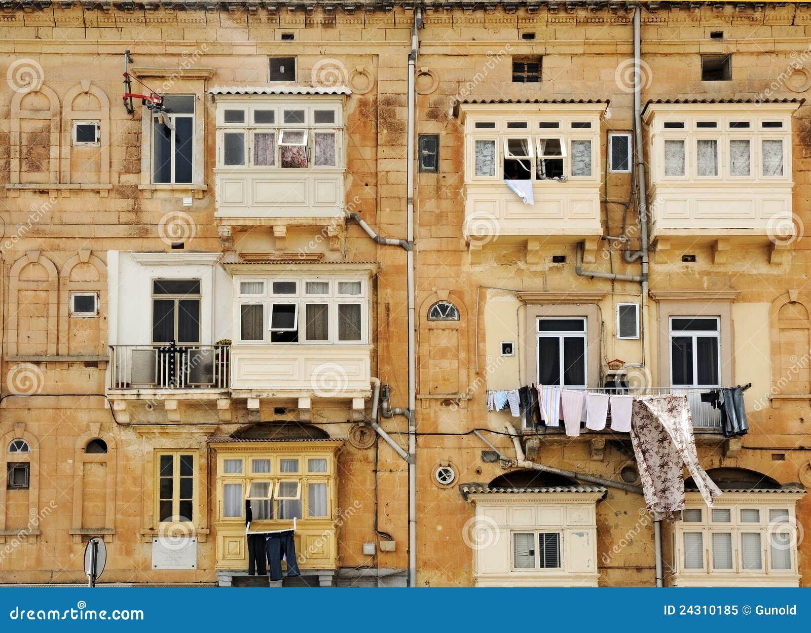 balcones cerrados foto de archivo libre de regal as