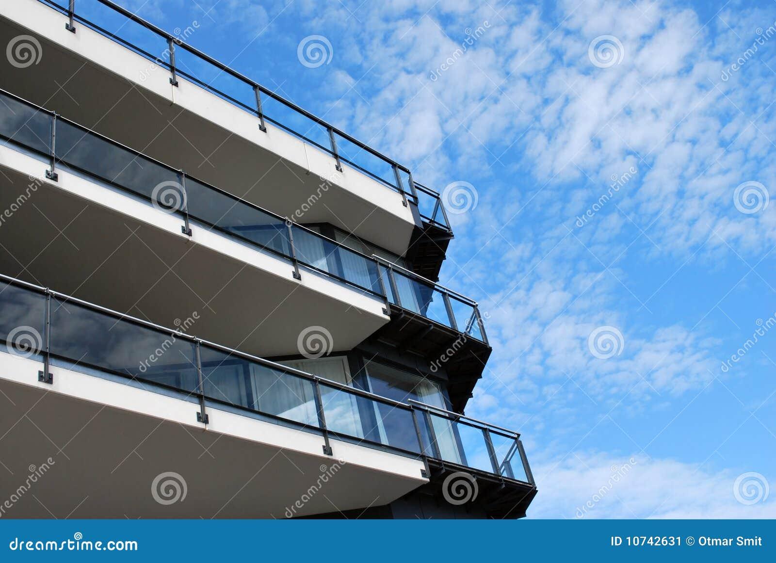 Balconied byggnad