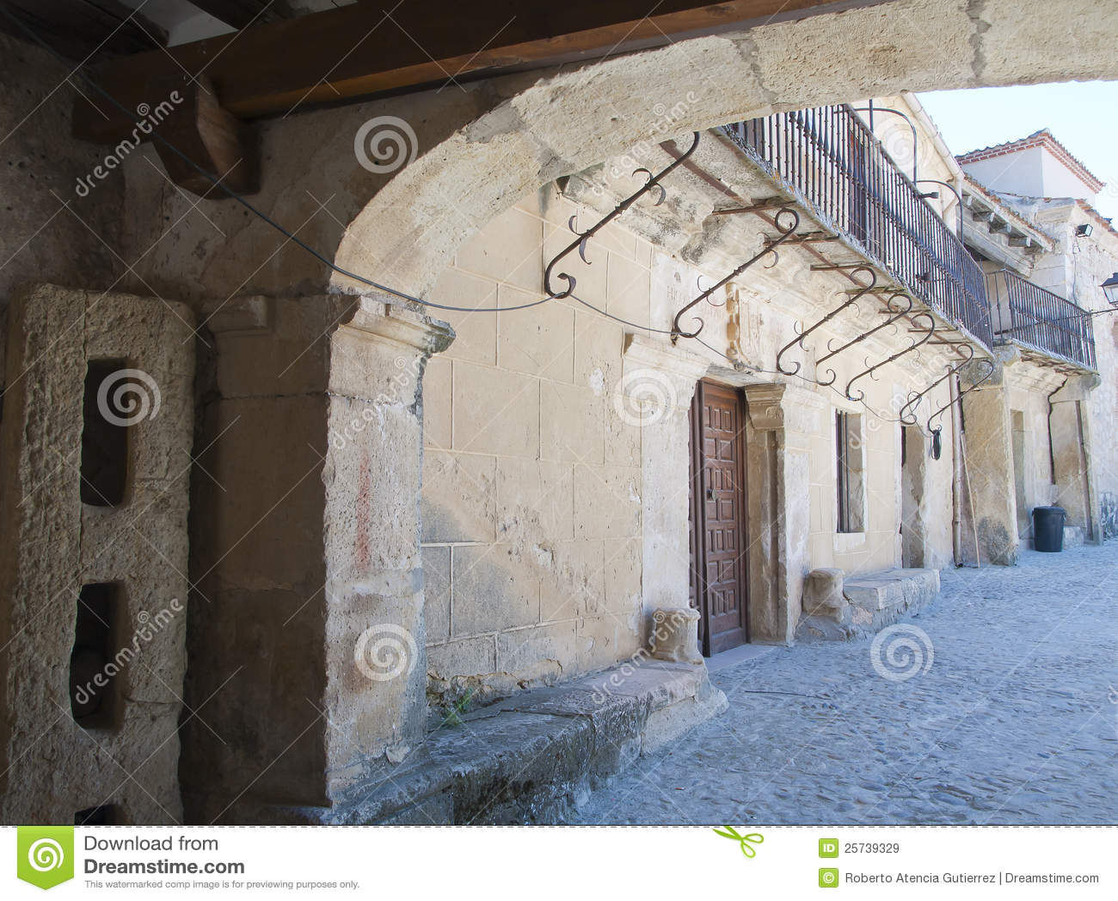 Balconies of houses