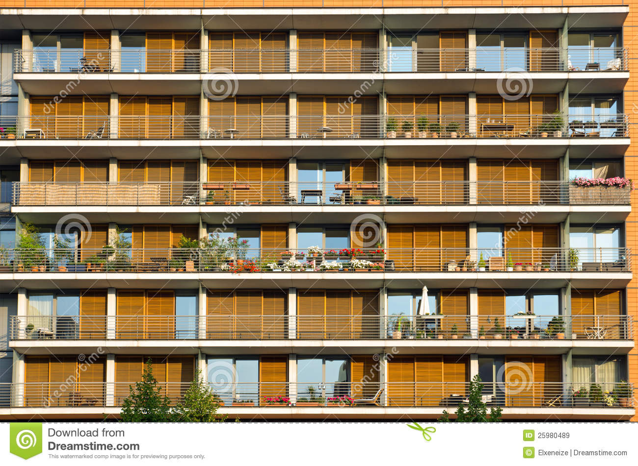 Balconies Of A Modern Building Royalty Free Stock Images Image 25980489